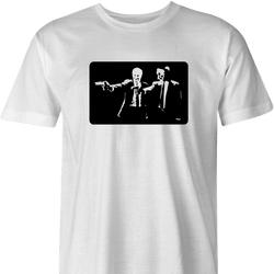 ped's dead pulp fiction men's white t-shirt