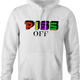 Pez Candy Funny T-Shirt - Piss Off white hoodie