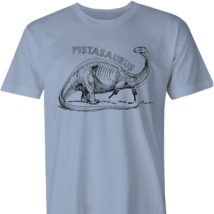 funny oscar pistorius pistasaurus dinosaur  men's light blue t-shirt