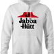 pizza hut jaba the hutt spaceballs parody white hoodie
