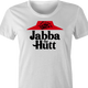 pizza hut jaba the hutt spaceballs parody white women's tee