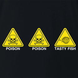 funny The Simpsons Poison Poison Tasty Fish white men's t-shirt
