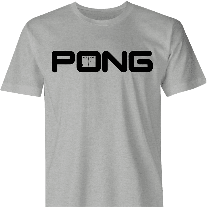 funny golf video game mashup ping clubs pong gaming men's t-shirt