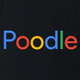 funny For People Who Love Poodles Google t-shirt black