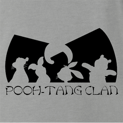 Funny winnie the pooh and friends wu-tang mashup men's white t-shirt