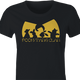 Funny winnie the pooh and friends wu-tang mashup women's t-shirt
