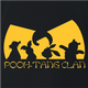 Funny winnie the pooh and friends wu-tang mashup black t-shirt