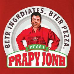 Funny internet meme papa john's pizza men's black t-shirt