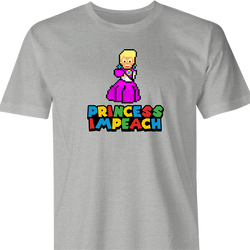 funny Donald Trump Impeached aka Princess Impeached Super Mario Mashup men's t-shirt