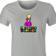 funny Donald Trump Impeached aka Princess Impeached Super Mario Mashup t-shirt women's Ash Grey