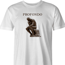 Funny The Thinker Profondo Parody White Men's T-Shirt
