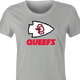 funny Kansas City Queefs Superbowl Champions Parody t-shirt women's Ash Grey