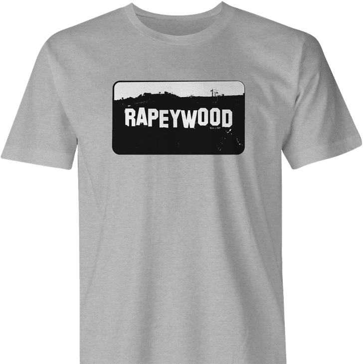 rapeywood hollywood california men's ash t-shirt