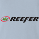 funnyReefer Weed Clothing Parody Light Blue t-shirt