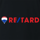funny retarded black t-shirt