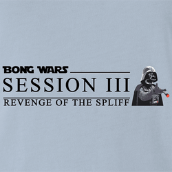 Funny Bong Wars: Revenge of The Spliff Star Wars Weed Parody White Men's T-Shirt
