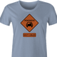 funny road head warning sign women's light blue t-shirt