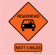 funny road head warning sign pink t-shirt