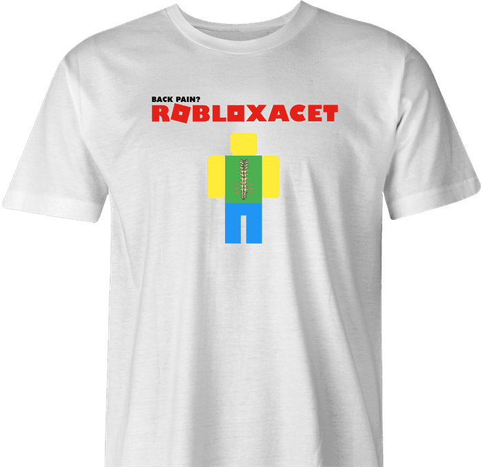 Funny bad back roblox  t-shirt white men's