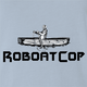 Funny Robocop Rowboat Mashup Golf t-shirt light blue