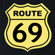 funny route 66 t-shirt black
