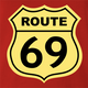 funny route 66 t-shirt red