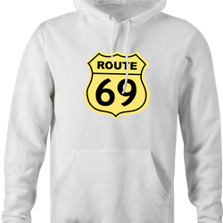 funny route 66 t-shirt white