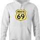 funny route 66 t-shirt white men's hoodie