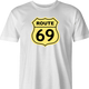 funny route 66 t-shirt white men's