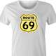 funny route 66 t-shirt white women's