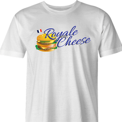 Royale With Cheese pulp fiction mcdonalds parody white t-shirt