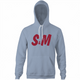 Funny S&M sexy H&M light blue hoodie