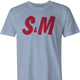 Funny S&M sexy H&M men's light blue t-shirt