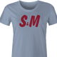 Funny S&M sexy H&M light blue women's t-shirt