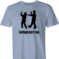funny prion shank frankenstein mashup men's t-shirt