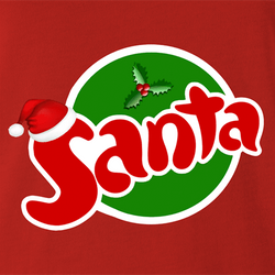 funny Santa Clause Christmas Fanta Soda Pop Soft Drink Parody parody t-shirt white