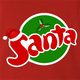 funny Santa Clause Christmas Fanta Soda Pop Soft Drink Parody parody t-shirt red