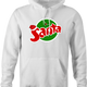 funny Santa Clause Christmas Fanta Soda Pop Soft Drink Parody parody white hoodie