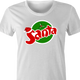 funny Santa Clause Christmas Fanta Soda Pop Soft Drink Parody parody women's t-shirt white