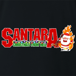 funny Santa Clause meets Pantera Cowboys From Hell parody men's t-shirt white