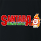 funny Santa Clause meets Pantera Cowboys From Hell parody t-shirt black