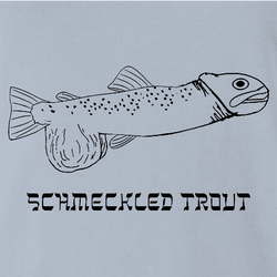 schmeckled rainbow trout t-shirt white