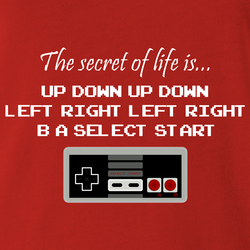 Funny secret to life nintendo unlimited lives men's t-shirt white