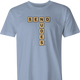 Funny send nudes scrabble t-shirt men's light blue