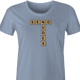 Funny send nudes scrabble t-shirt women's light blue