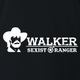 Funny Sexist Ranger Walker mashup black t-shirt
