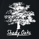 Shady Oaks Funny Tree Retirement home parody t-shirt black