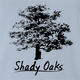 Shady Oaks Funny Tree Retirement home parody t-shirt light blue