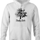 Shady Oaks Funny Tree Retirement home parody hoodie white