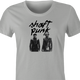 funy daft punk shaft mashup t-shirt women's ash